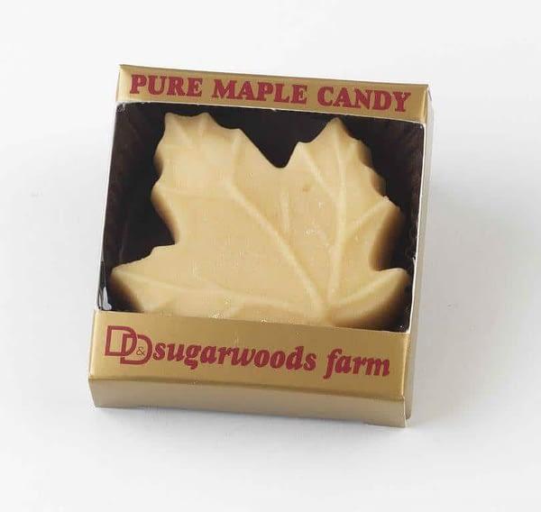 Maple Sugar Candy Large Leaf - (1) - D&D Sugarwoods Farm - Glover, Vermont