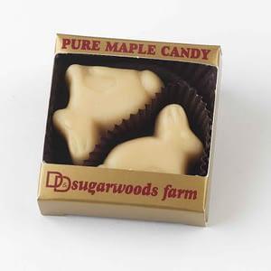 Vermont Maple Candy Bunnies - D&D Sugarwoods Farm - Glover, Vermont