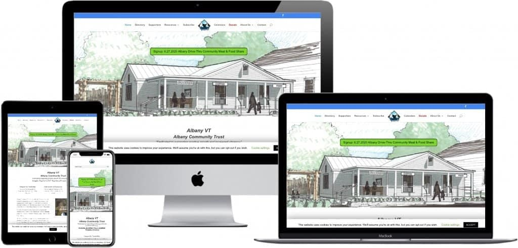 responsive website design - Albany Community Trust