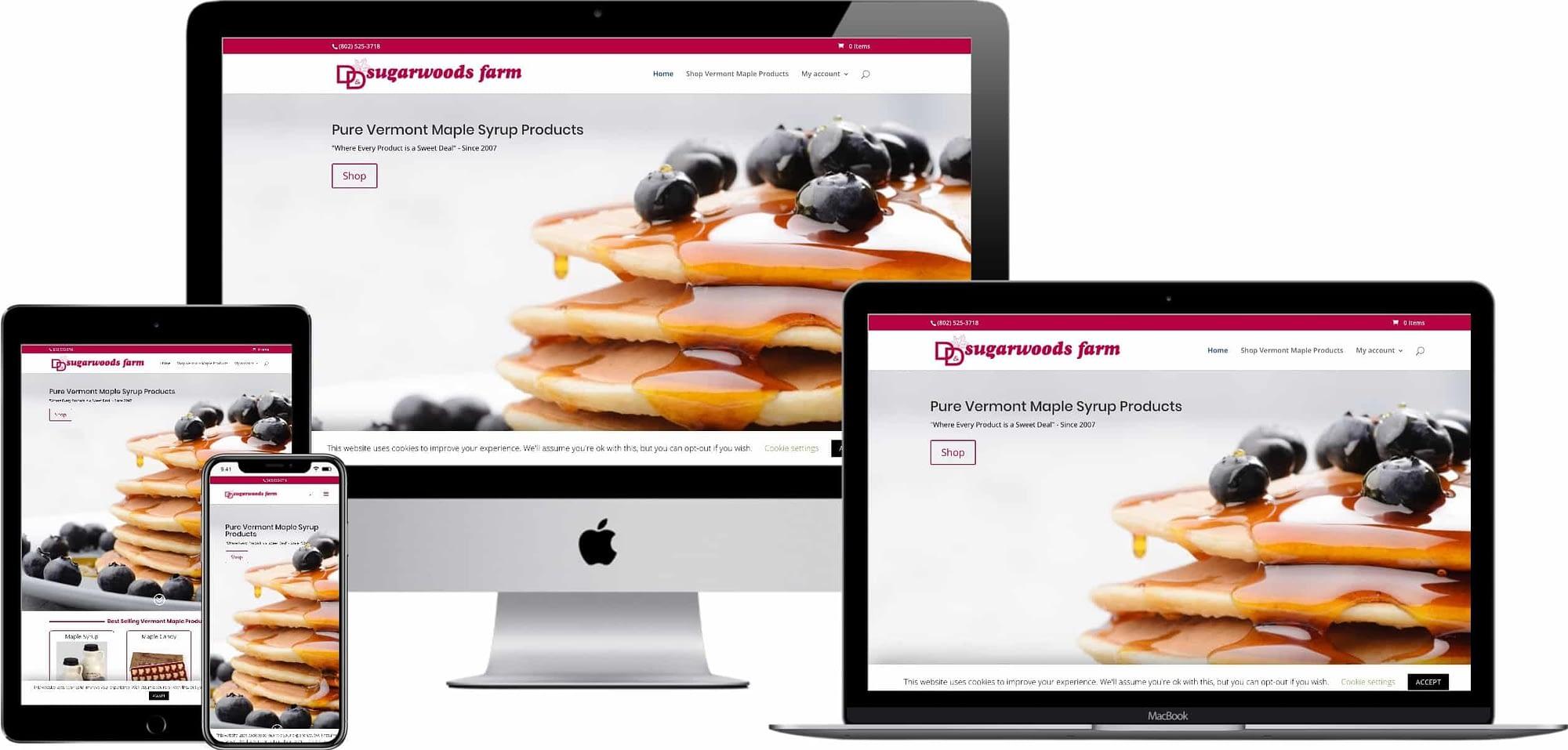 Responsive Web Design - D&D Sugarwoods Farm