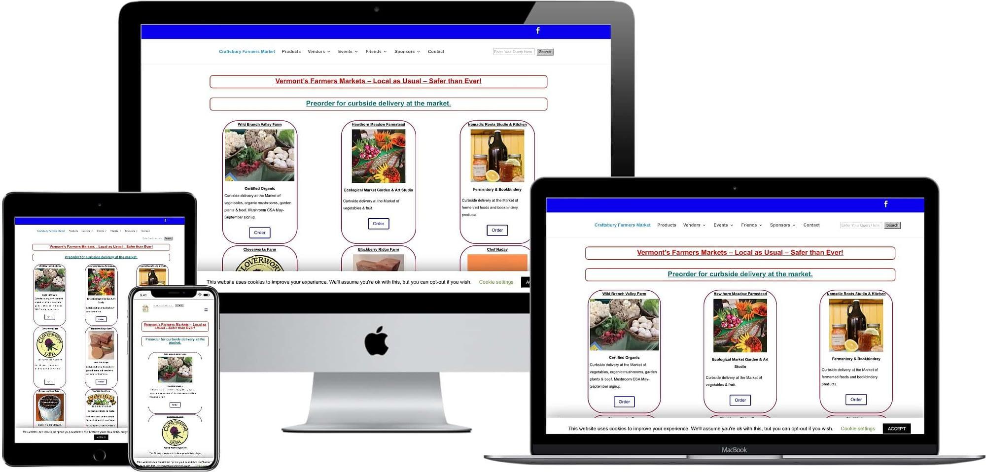 responsive web design - Craftsbury Farmers Market