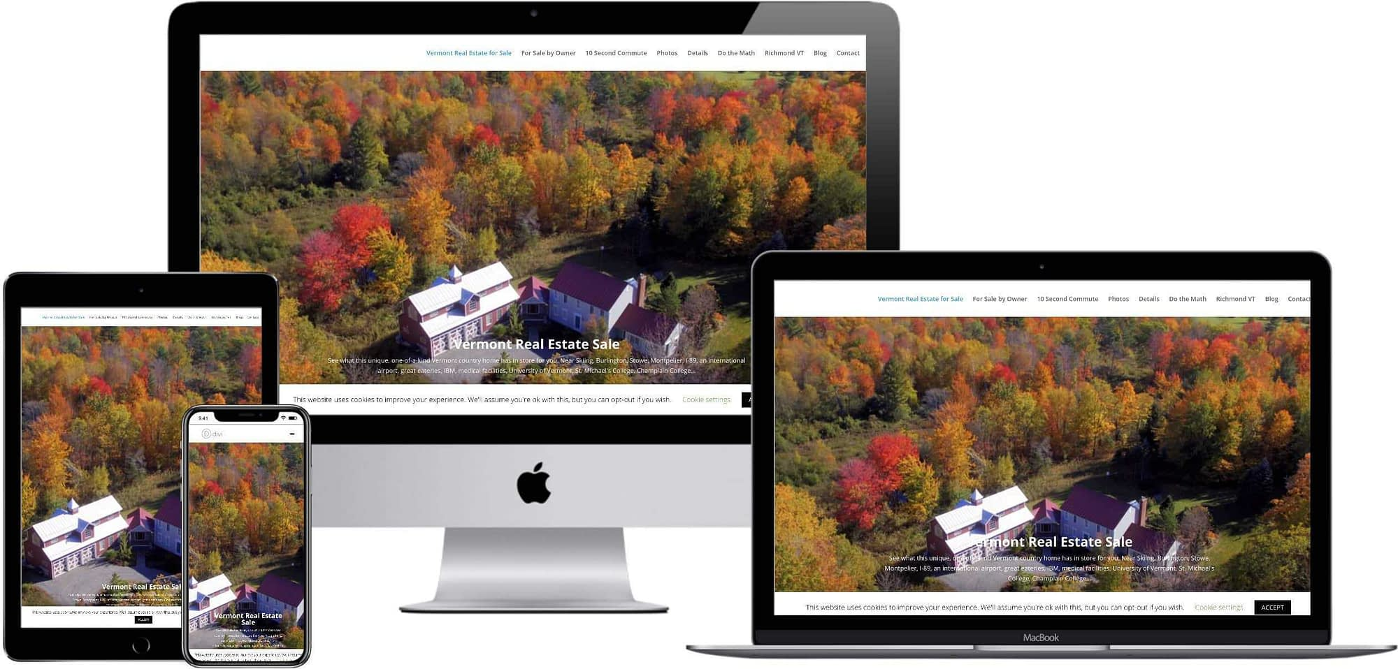 responsive web design - Vermont Country Home for Sale